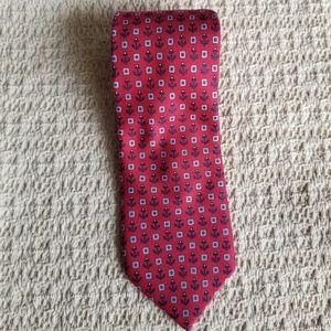 Nautica men's necktie red with anchor